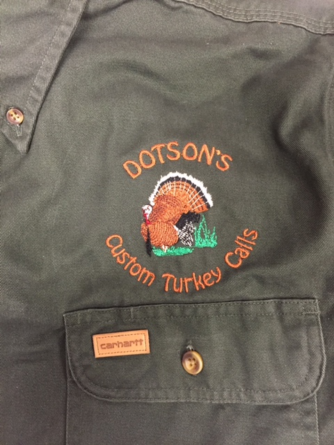 Embroidery Dotson's Custom Turkey Calls