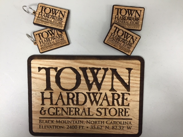 Laser Engraved - Town Hardware Keychain
